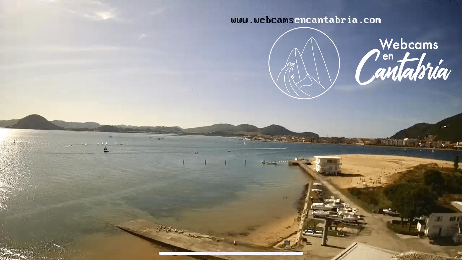 Marisma de Santoña, Victoria y Joyel desde el Puntal de Laredo, Cantabria.